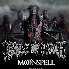 Cradle of Filth + Moonspell + support - Bilety